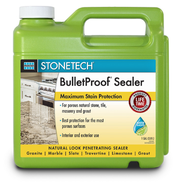 "StoneTech™ Bullet Proof™ Stone Sealer  provides maximum ""natural look"" protection for all natural stone by StoneTech™"